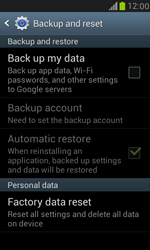 Samsung I8190 Galaxy S III Mini - Device - Reset to factory settings - Step 6