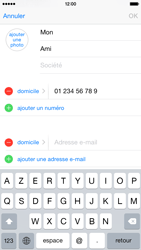 Apple iPhone 6 Plus iOS 8 - Contact, Appels, SMS/MMS - Ajouter un contact - Étape 13