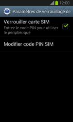 Samsung Galaxy Express - Sécuriser votre mobile - Personnaliser le code PIN de votre carte SIM - Étape 6