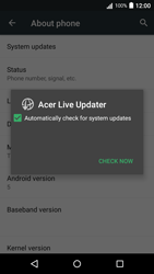 Acer Liquid Z530 - Network - Installing software updates - Step 7