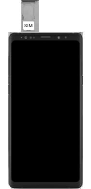 Samsung Galaxy Note 9 - Premiers pas - Insérer la carte SIM - Étape 4