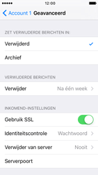 Apple iPhone 5 iOS 9 - E-mail - Account instellen (POP3 met SMTP-verificatie) - Stap 22