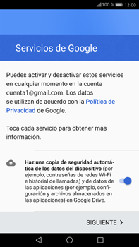Huawei Mate 9 - E-mail - Configurar Gmail - Paso 13
