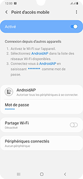 Samsung Galaxy A50 - Internet - comment configurer un point d'accès mobile - Étape 12