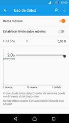 Sony Xperia M5 (E5603) - Internet - Ver uso de datos - Paso 8