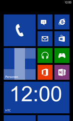 HTC Windows Phone 8S - Buitenland - Bellen, sms en internet - Stap 1