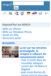 Sony Ericsson Xperia Neo V - Internet - Sites web les plus populaires - Étape 13