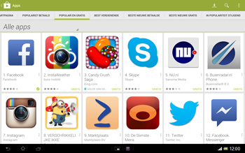 Sony SGP321 Xperia Tablet Z LTE - Applicaties - Downloaden - Stap 8