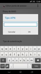 Sony Xperia E4 - Internet no telemóvel - Como configurar ligação à internet -  13