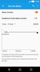 Sony Xperia M4 Aqua - Internet - Ver uso de datos - Paso 5