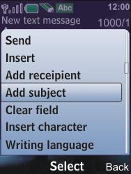 Nokia 6600i slide - MMS - Sending pictures - Step 9