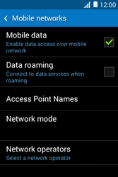 Samsung Galaxy Young 2 - Network - Usage across the border - Step 6