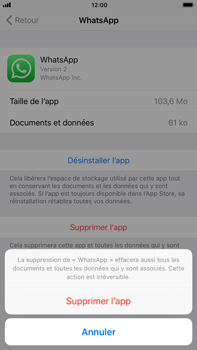 Apple iPhone 6 Plus - iOS 11 - Applications - Supprimer une application - Étape 7
