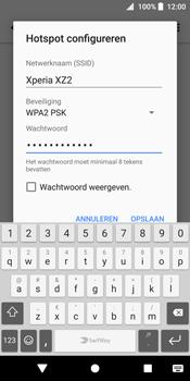 Sony Xperia XZ2 (H8216) - WiFi - Mobiele hotspot instellen - Stap 9