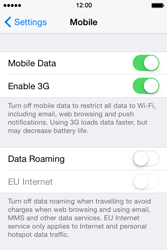 Apple iPhone 4 S - iOS 8 - Internet - Usage across the border - Step 5