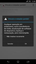 Sony Xperia E4G - Wi-Fi - Como usar seu aparelho como um roteador de rede wi-fi - Etapa 13
