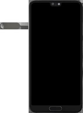 Huawei P20 - Premiers pas - Insérer la carte SIM - Étape 2