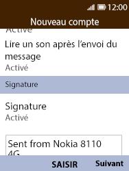 Nokia 8110 Banana - E-mail - Configuration manuelle - Étape 16