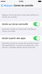 Apple iPhone SE - iOS 10 - iOS features - Centre de contrôle - Étape 4