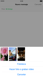 Apple iPhone 6 Plus iOS 8 - Mensajería - Escribir y enviar un mensaje multimedia - Paso 9
