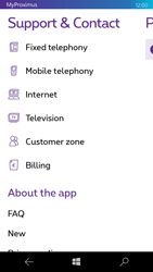 Microsoft Lumia 550 - Applications - MyProximus - Step 20