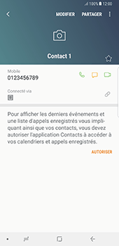Samsung Galaxy Note 8 - Contact, Appels, SMS/MMS - Ajouter un contact - Étape 10