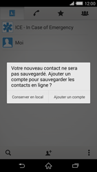 Sony Xperia Z2 - Contact, Appels, SMS/MMS - Ajouter un contact - Étape 6