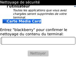 BlackBerry 8520 - Aller plus loin - Restaurer les paramètres d'usines - Étape 7