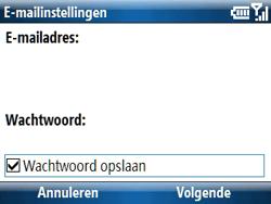 Samsung C6620 - E-mail - handmatig instellen - Stap 7