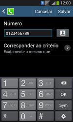 Samsung SM-G3502T Galaxy Core Plus Duo TV - Chamadas - Como bloquear chamadas de um número específico - Etapa 12