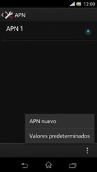 Sony Xperia L - Mensajería - Configurar el equipo para mensajes multimedia - Paso 8