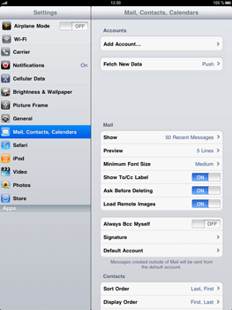 Apple iPad - E-mail - Manual configuration - Step 5