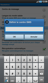 Samsung P1000 Galaxy Tab - SMS - Configuration manuelle - Étape 6