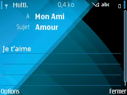 Nokia E71 - MMS - envoi d'images - Étape 10