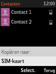 Nokia 3310 3G (TA-1022) - Contacten en data - Contacten kopiëren van toestel naar SIM - Stap 7