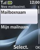 Nokia 2330 classic - E-mail - e-mail instellen: POP3 - Stap 13