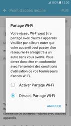 Samsung Galaxy S7 Edge - Internet et connexion - Partager votre connexion en Wi-Fi - Étape 6