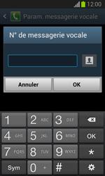 Samsung S7390 Galaxy Trend Lite - Messagerie vocale - Configuration manuelle - Étape 8