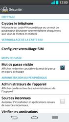 LG G2 - Sécuriser votre mobile - Personnaliser le code PIN de votre carte SIM - Étape 6