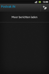 Sony ST27i Xperia Go - E-mail - E-mails verzenden - Stap 4