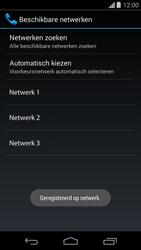 Motorola Moto G - Netwerk selecteren - Handmatig een netwerk selecteren - Stap 11