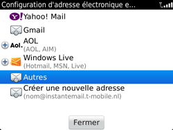 BlackBerry 9900 Bold Touch - E-mail - Configuration manuelle - Étape 6