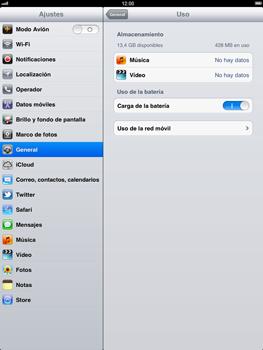 Apple iPad 2 - Internet - Ver uso de datos - Paso 5