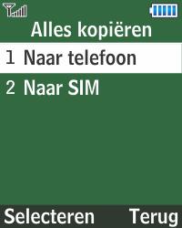 Samsung E1270 - Contacten en data - Contacten kopiëren van SIM naar toestel - Stap 6