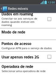 LG E430 Optimus L3 II - Internet (APN) - Como configurar a internet do seu aparelho (APN Nextel) - Etapa 7