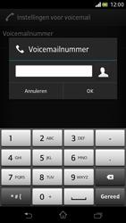 Sony LT30p Xperia T - Voicemail - Handmatig instellen - Stap 7