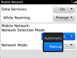 BlackBerry 9720 Bold - Network - Usage across the border - Step 7