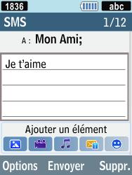 Samsung C3590 - Contact, Appels, SMS/MMS - Envoyer un SMS - Étape 7