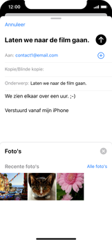 Apple iphone-x-met-ios-13-model-a1901 - E-mail - Hoe te versturen - Stap 11