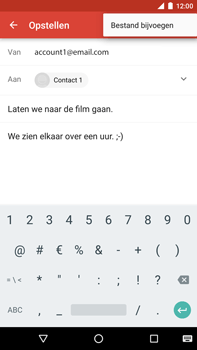 Huawei Google Nexus 6P - E-mail - Bericht met attachment versturen - Stap 10